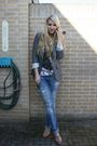 Blue-zara-jeans-gray-primark-blazer-beige-h-m-top-pink-h-m-shoes