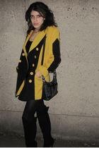 gold Beacons closet coat - black Ami Club Wear boots - black coach purse