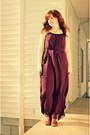 Bronze-target-boots-purple-maxi-dress-forever-21-dress