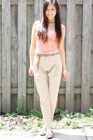 Wilfred bustier top - Zara pants - Zara shoes - Zara belt