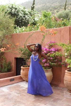 violet chiffon Primark dress