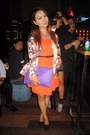 Orange-bazaar-dress-turquoise-blue-apartment8-blazer-purple-grab-bag-bag