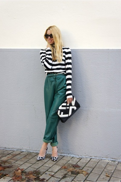 vintage pants - Fendi bag - Reiss top