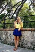Primark skirt - Karen Walker sunglasses - Zara top