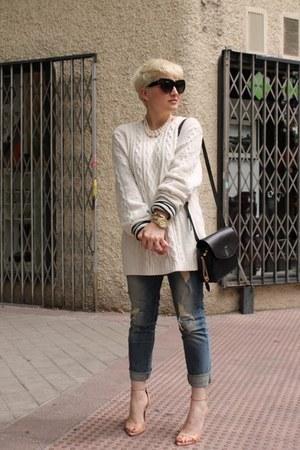 H&M men sweater - Zara jeans - t by alexander wang t-shirt - Zara sandals