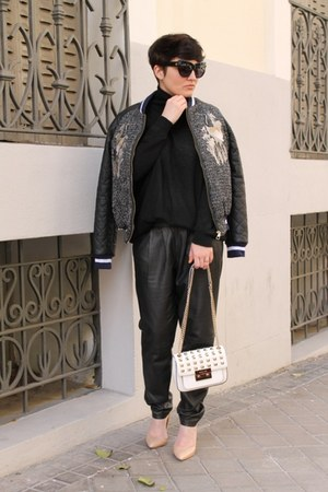 Three Floor jacket - Michael Kors bag - Zara jumper - Mango heels - Mango pants