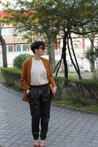 Zara coat - Mango shirt - Mango pants - Zara heels