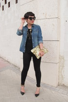 Zara leggings - H&M shirt - Love Cortnie bag - Zara t-shirt - Zara heels