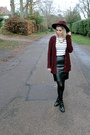 Cut-out-office-boots-pull-bear-cardigan-striped-unknown-top