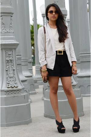 banana republic top - Gap blazer - Rebecca Minkoff bag - H&M shorts