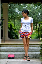 white sixtwenty t-shirt - hot pink Prabal Gurung shorts