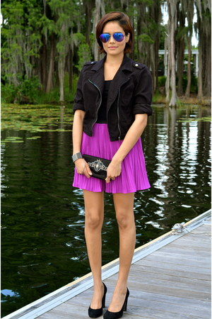 magenta ted baker skirt - black dex clothing jacket