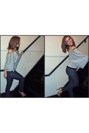 snakeskin top - snakeskin heels