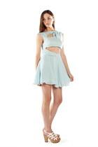 sky blue cut out bow Alyssa Nicole dress