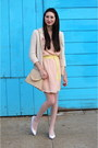 Peach-alyssa-nicole-dress-light-pink-american-apparel-tights