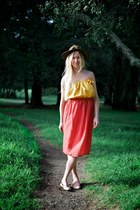Orange Orange Maxi Alyssa Nicole Skirts Mustard Tube Top Alyssa Nicole Tops