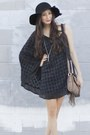 Black-alyssa-nicole-dress-black-floppy-hat-bcbg-hat