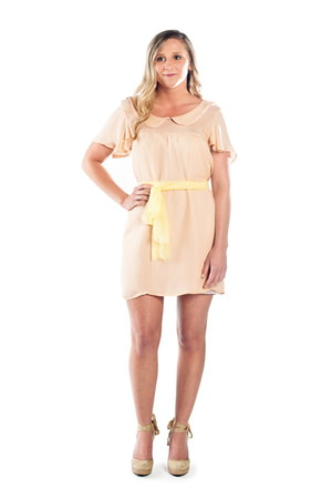 peach peterpan collar Alyssa Nicole dress