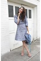 blue Alyssa Nicole dress - blue vintage calvin klein jacket