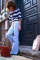vintage jeans - vintage blouse