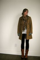 Charlotte Russe coat - vintage boots - Walmart scarf - Walmart leggings - thrift