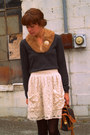 Banana-republic-sweater-urban-outfitters-skirt-kork-ease-shoes-vintage-acc