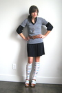 Gap-dress-american-apparel-t-shirt-vintage-belt-vintage-shoes