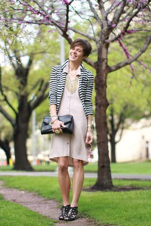 black olsenboye blazer - black Call it Spring shoes - light pink Lulus dress