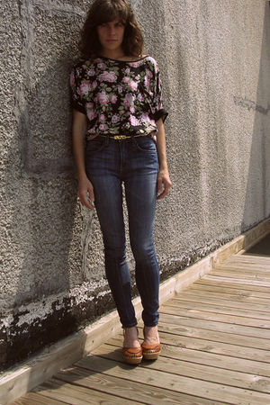 BDG jeans - thrifted blouse
