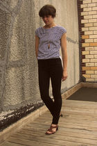 Topshop jeans - thrifted shirt
