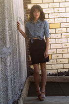 Cynthia Vincent for Target shoes - thrifted Old Navy shirt - vintage jordache sk