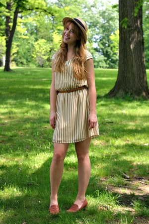 tan striped Sugarlips dress - brown included Sugarlips belt
