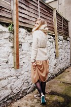 eggshell snood gifted accessories - tawny Primark dress - eggshell Topman jumper