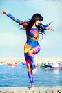 Black-wig-wonderland-wigs-hat-blue-splash-unitard-we-love-colors-bodysuit
