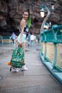 Green-backpack-eastpak-bag-aquamarine-american-apparel-shorts