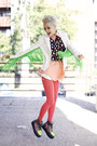 Chartreuse-fringed-diy-blazer-salmon-chicwish-shirt