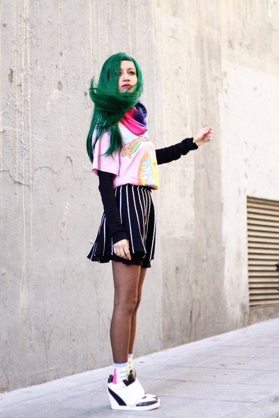 green wig wonderland wigs hair accessory - bubble gum romwe shirt