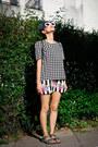 Romwe-sunglasses-striped-egoist-skirt-nowistyle-blouse