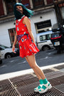 White-sandals-asos-shoes-red-minueto-dress