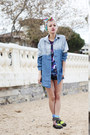 Navy-denim-diy-shorts-chartreuse-asos-boots-light-blue-denim-chicwish-shirt