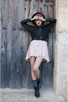 dark gray DIY blouse - light pink DIY dress