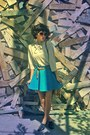 Beige-vintage-blouse-blue-american-apparel-skirt-beige-merona-socks-black-