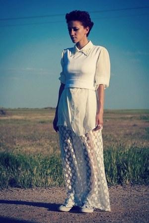 white Chicwish shirt - white Romwecom pants