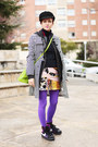 Amethyst-we-love-colors-tights-chartreuse-vintage-moschino-bag