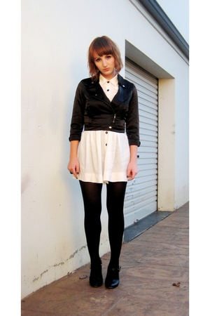 black Dotti jacket - black buckle Michael Kors boots - black tights