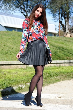 suiteblanco blouse - Stradivarius skirt - suiteblanco heels