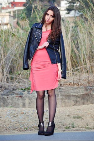 salmon Fondotinta dress - black Teenagers jacket - black Zara heels