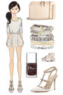 neutral Chloe bag - ivory Valentino shoes - neutral snake print asos skirt