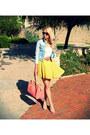 Sky-blue-zara-jacket-salmon-bershka-bag-yellow-forever-21-skirt