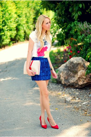 Blue Zara Skirt - How to Wear and Where to Buy | Chictopia